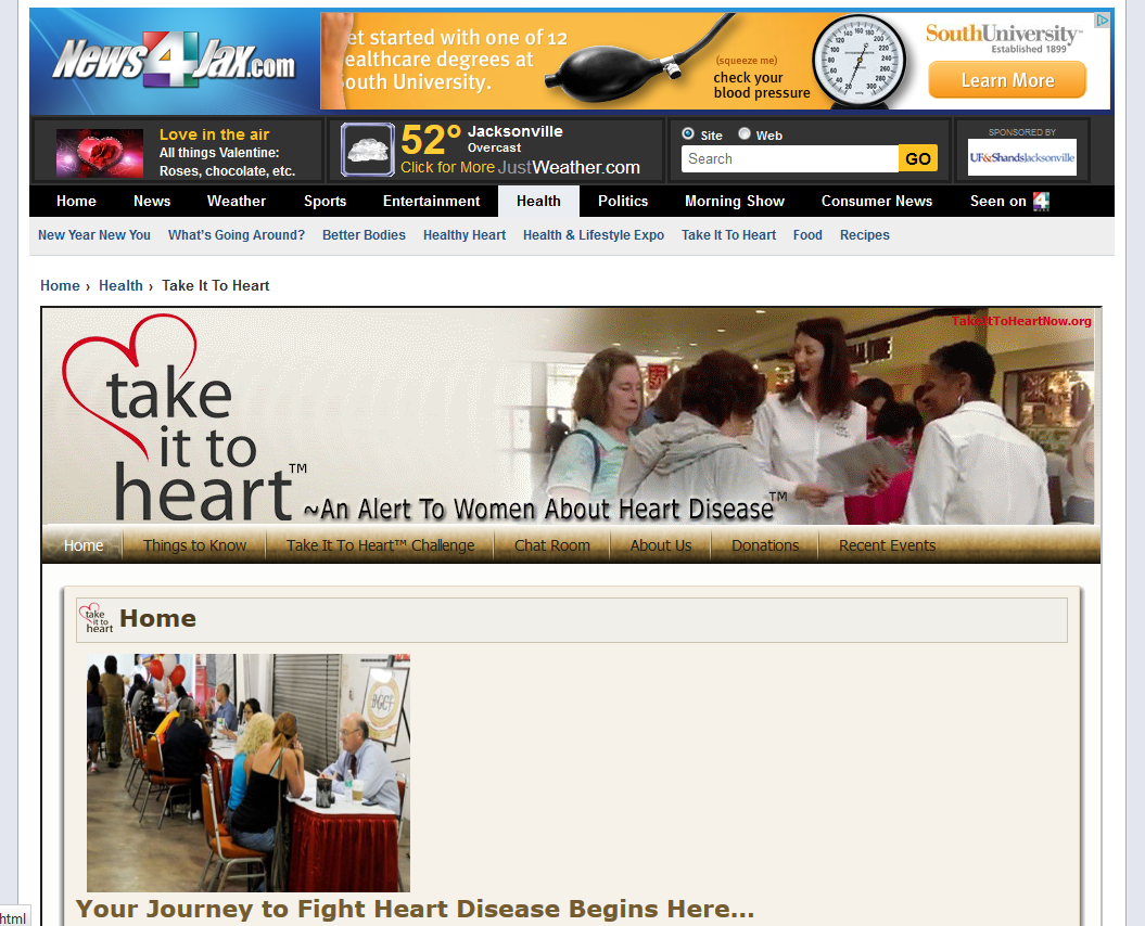 Take It To Heart Now is also featured on NEWS4Jax website!